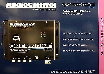 NEW Audio Control OVERDRIVE PLUS, 2-Channel 24dB-Gain Line Driver (BLACK)