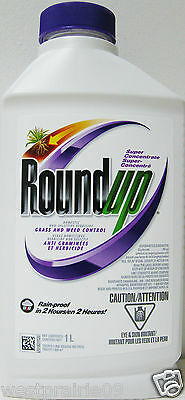 Roundup Super Concentrate Domestic Non-Selective Grass Weed Control 1L Herbicide