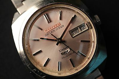 Citizen Seven Star Deluxe 23 Jewels men's automatic watch