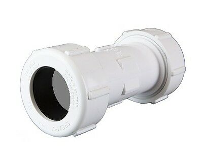 "NEW PVC Compression Coupling 20mm (3/4"") 5 Pack"