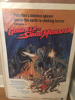 Godzilla Vs. The Smog Monster Original One Sheet Poster