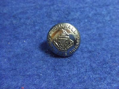 1 X Cornwall County Fire Brigade 16Mm Plated Metal Button
