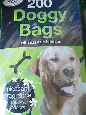 400 DOGGY BAGS Scented Pet Pooper Scooper Bag Dog Cat Poo Waste Toilet Poop