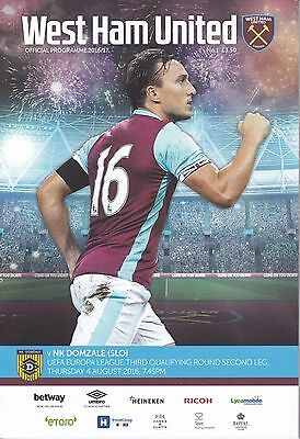 West Ham United v NK Domzale Europa League first game at new stadium 4/8/16