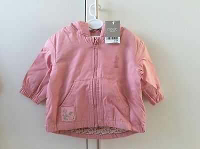 Next pink baby girl coat (3-6 mths)