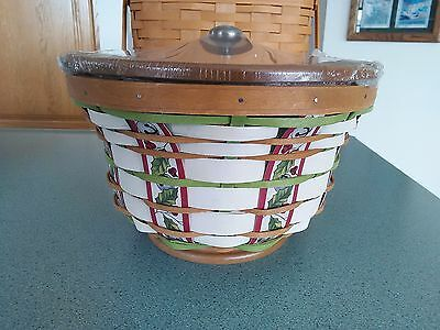 Longaberger 2016 Collector's Club Limited Holly Revere Basket set NEW