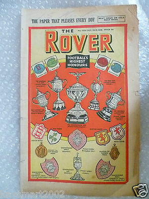 Comic THE ROVER Comic, No.1222, 23rd Nov, Football's Highest Honours