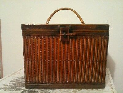 Sale!!!Beautiful Vintage Bamboo Purse Made In The Peoples Republic Of China