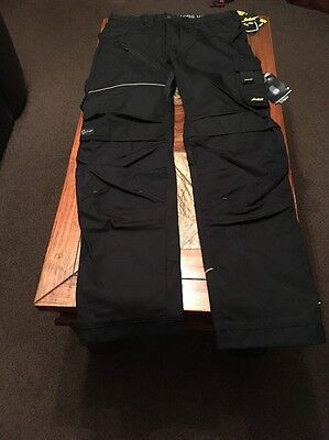 Snickers Ruff Work 6202 Trousers- Black/black- Size 254