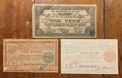 Ww2 Philippines Emergency Currency Bill Note Certificates