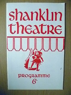 SHANKLIN THEATRE PROGRAMME 1968- THE UNEXPECTED GUEST by AGATHA CHRISTIE