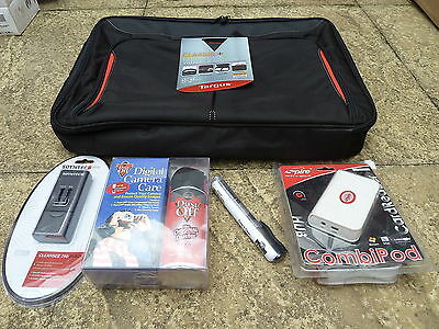 "JOB LOT LAPTOP ACCESSORY SET NEW 17"" 18"" Targus Classic+ Case USB Card Clean Kit"
