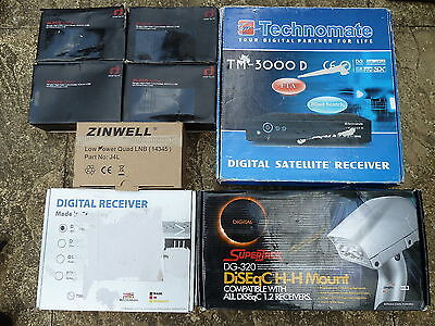 JOB LOT SATELLITE DIGITAL RECEIVER LNB ACCESSORIES Untested Faulty Vistron Mount