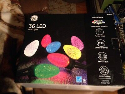 GE Color Effects 36 Count 29.17-ft Multi-Function Color Changing LED G28 Lights