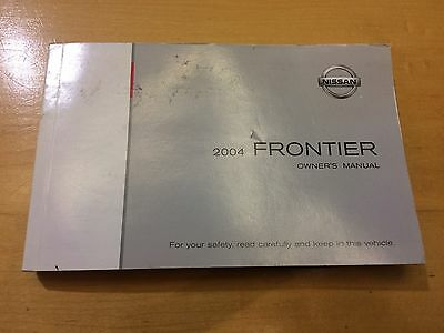 2004 Nissan Frontier Owners Manual