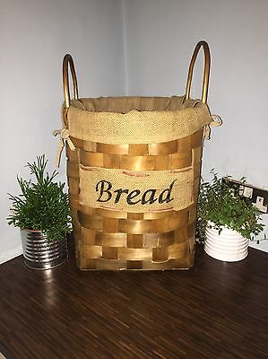 Vintage French Style Woven Bread Basket