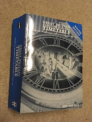 British Rail Great Britain Timetable September 1996 to May 1997