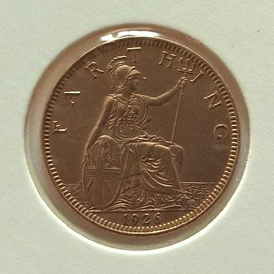 British Coin Farthing 1926 King George V