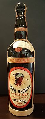 RHUM NEGRITA RUM Bottle with Federal Prohibition label
