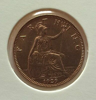 British Coin Farthing 1929 King George V