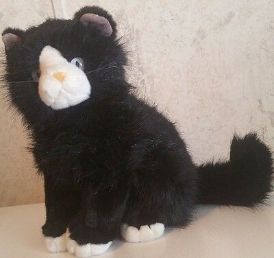 """Ty Classic Shadow Cat 12"""" Plush Stuffed Animal Toy 1999 Retired Black and White"""