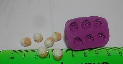 1:12 Scale Cup Cake Topping Mold/Mould Dolls House Miniature Food Accessory