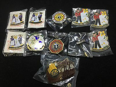 Lot Of 11 Vintage NOS Richlandtown, PA Lions Club Pins Amish 1978, 1980 & More