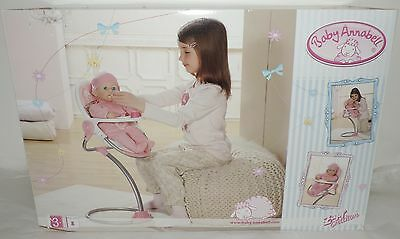 NEW Baby Annabell HIGHCHAIR w/FLORAL FABRIC on seat - For dolls up to 46 cm/18""