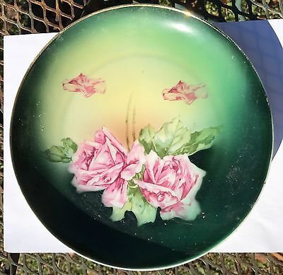 Decorative Plate with Rose Decoration Bavaria Hand painted