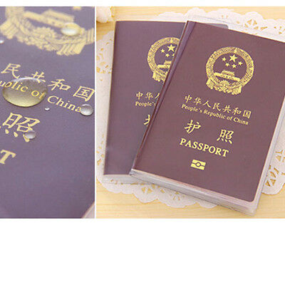 2x Clear Transparent Passport Cover Holder Case Bank ID Card Protector Travel UK