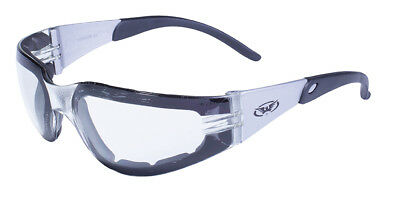 Clear Lens Padded Motorcycle Safety Glasses Sunglasses ATV Riding Biker Cycling
