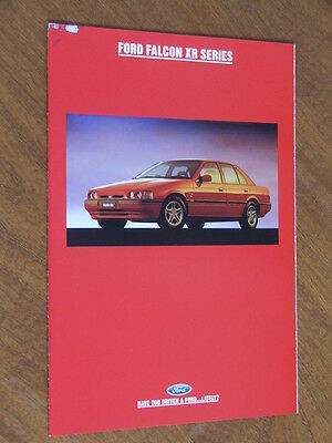 1993 Ford ED Falcon XR6 and XR8 Series original Australian 24 page brochure