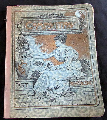 1911  Watercolor Art Composition Notebook High School Student Duanesburg Ny