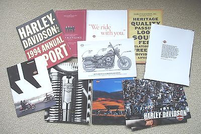 Lot Of 10 Harley Davidson Annual Reports Great Photos And Articles In All