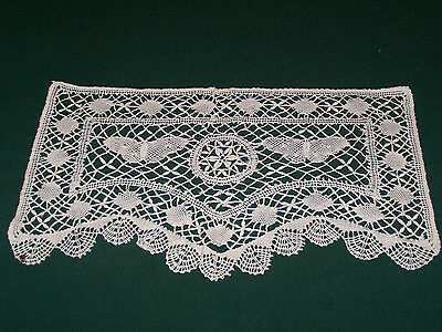 AMAZING VINTAGE NEEDLELACE DOILY, BUTTERFLY MOTIF, EX. CONDITION, c1930