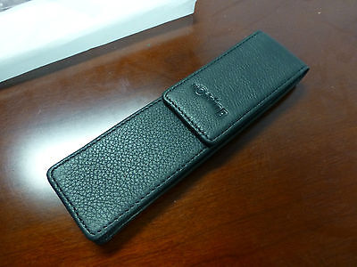 Rotring leather pen case fits 2 pens NEW OLD STOCK