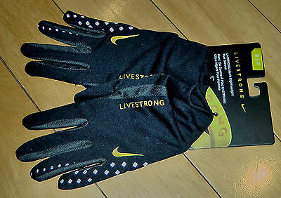 Lot Of 2 Pairs Nike Livestrong  Men's Lightweight Run Gloves Size: Xs Tp