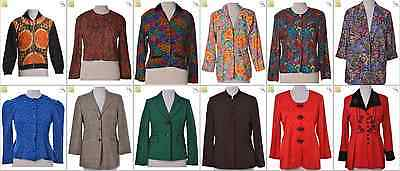 """JOB LOT OF 20 VINTAGE WOMEN""""S JACKETS - Mix of Era's, styles and sizes (21287)"""