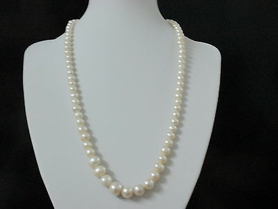 31.7 gr Natural Genuine Victorian Necklace Round Pearls Beads Rare Antique.