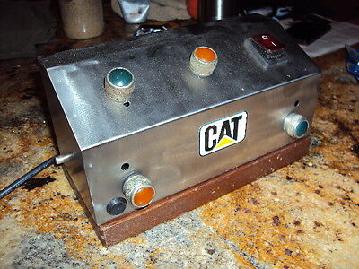 CATERPILLAR Control Panel Lights SS Box Oak  from Ocean Ship USA Just for Art