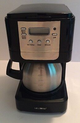 Coffee Maker With Stainless  Carafe Mr. Coffee Advanced Brew 5-Cup Programmable