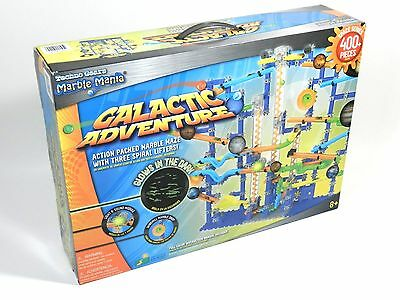 NEW Techno Gears Marble Mania Glow In The Dark Galactic Adventure Set 400 Pieces
