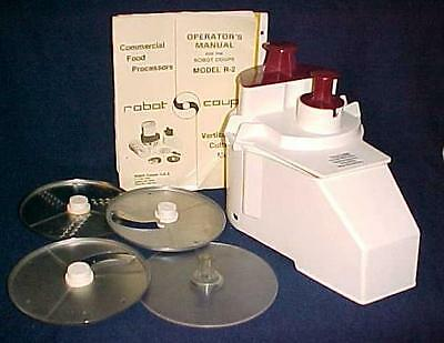 Robot Coupe R2 Continuous Feed Accessory Plate/blades Good Used Condition