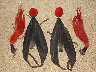 Set of Vintage Leather Scotch Tops Tack with Red Tassels for Ponies Horses