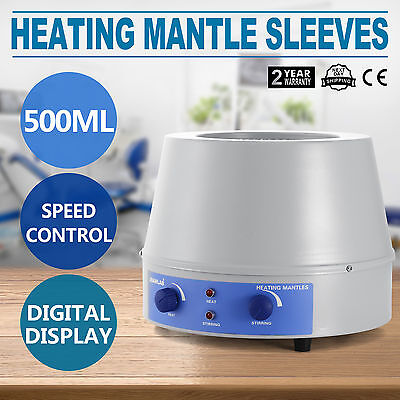 500Ml Heating Mantle Sleeves Electric 110V Thermostatic Temperature Bargain Sale