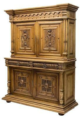 HENRY II RELEIF CARVED CABINET SIDEBOARD 19th Century ( 1800s )