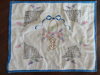 Vintage Old Floral Victorian Hand Made Embroidery Pillow Cover