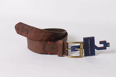 $45 Tommy Hilfiger Men`s Leather Casual Belt 32 Brown NEW