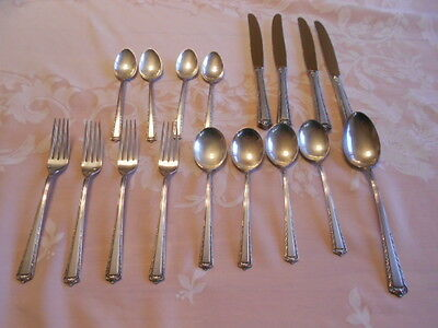 Vintage Fine Arts Sterling Silver Processional Silverware Service for 4 Set
