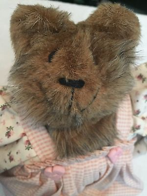 1988 Debra Johnson Teddy's Treasure Plush BEAR Original Designs Handmade by